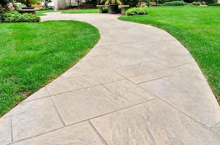 Tough Stone Concrete Sidewalks